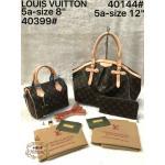 กระเป๋า Louis Vuitton ชุดเซ็ต 3 ใบ สวยพรีเมียม ใบใหญ่ 12 นิ้ว ใบกลาง ทรงหมอน 8 นิ้ว และกระเป๋าสตางค์ยาวซิปรอบ เข้าชุด พร้อมสายยาว ถอดได้ และถุงผ้า