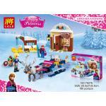เลโก้จีน LELE79276 ชุด Princess Frozen Anna & Kristoff's Sleigh Adventure