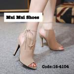 รองเท้าแฟชั่น ส้นสูง สไตล์เกาหลีงานนำเข้า วัสดุเป็นงานผ้าสักหลาดอย่างดี ทรงเก็บเท้า รับทรงเท้าได้ดีมากๆ มาพร้อมสายรัดข้อเท้าเส้นเล็ก แบบผูก สวยเก๋ดูมีสไตล์ งานระดับไฮ เอ็น สวยเป๊ะ ส้นเข็มสูง 4 นิ้ว