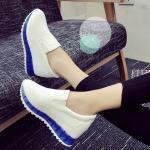 รองเท้าผ้าใบมัฟฟินเข้านำ สไตล์เกาหลี ส้นสูง 3 cm เสริมภายใน 13 cm วัสดุรองเท้าทำจากหนัง pu ตัวรองเท้าน้ำหนักเบา สวยเก๋ด้วยส้นสีสดใส ใส่แล้วดูโดดเด่น สวมใส่สบาย