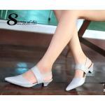 รองเท้าคัทชู ส้นเตี้ย หัวแหลม หนังนิ่ม สไตล์ ZARA สวยเก๋ สายรัดข้อ ยางยืด พื้นนิ่ม สูง 2 นิ้ว น้ำหนักเบา แมทกับชุดไหนก็ง่าย งานขายดีที่ สาวไม่ควรพลาด สีดำ เทา ชมพู แทน (Z17-165)