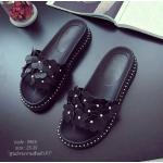 รองเท้าแตะแฟชั่น สวยหวาน ส้นหนา น้ำหนักเบา หน้าดอกไม้ chic chic ลุยน้ำได้ ใส่สบาย