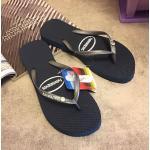 รองเท้าแตะ havaianas งานสวย ใส่สบาย ปั๊มแบรนด์ สีดำ น้ำเงิน (ไม่มีกล่อง)