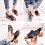 """รองเท้าแฟชั่น EXTRA SOFT & COMFORT SHOES เพื่อสุขภาพ ที่มาพร้อมดีไซน์ สวยสะดุดตา ดูดีมีราคา วัสดุ pu เนื้อหนานุ่ม พื้นบุ sponge เนื้อ high quality รอง รับน้ำหนักเท้าและแรงกดกระแทกได้ดี เดินไม่ปวดส้นเท้า เสริมพื้น 2"""" ทรงส้นหนา เดินง่ายใส่สบาย ปูพื้นยา"""