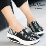 รองเท้าเพื่อคนรักสุขภาพ ยางสาน รุ่น Style Skechers วัสดุผ้ายางยืดอย่างดี น้ำหนักเบา พื้นสปอร์ทกระจายน้ำหน้กได้ดี ใส่กระชับ ไม่ย้วย เข้ารูป สวมใส่ ง่ายไม่ต้องผูกเชือก สูงประมาณ 2 นิ้ว สีดำ น้ำเงิน ฟ้า ชมพู