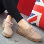 รองเท้าคัทชู Style Vintage ด้านหน้าผู้เชือกงานน่ารักมาก นิ่มมาก มีเสริมส้น ด้านใน ใครใส่ก็ชิค