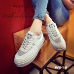 รองเท้าผ้าใบ Korea style สุดเก๋ งานนำเข้า ผ้าแคนวาสแต่งกำมะหยี่นิ่ม ดีไซน์ สวยเท่ห์สุดๆ พื้นหนา 1.5 นิ้ว งานดีงานสวย พื้นยางกันลื่น ด้านในนิ่ม น้ำหนักเบา สวมใส่ได้ตลอดไม่มีเอาท์ สีดำ เทา ชมพู