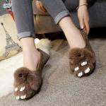 รองเท้าคัทชู ส้นแบน New Little Bunny Shoe สุดน่ารัก แต่งกระต่ายน้อย ฟูนุ่มน่ารักด้านหน้า สวมใส่นุ่มสบาย ไม่รัดเท้า ระบายอากาศได้ดีแต่งแต้ม ความสนุกสนานให้กับลุคของคุณ มาพร้อมความชิค มีสไตล์ แมตช์ชุดง่าย เข้ากับทุกชุด สีเทา ดำ น้ำตาล (SN490827)