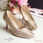 รองเท้าแฟชั่น คัชชูส้นสูง ดีไซน์สวยเรียบหรู หนัง PU อย่างดี ทรงหัวแหลม ช่วยให้เท้าดูเรียว ความสูง 2.5 นิ้ว ใส่สบาย