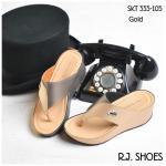 รองเท้าแฟชั่น ส้นเตารีด แบบหนีบสวยเก๋ หนัง PU อย่างดีนิ่ม ตัดสีทูโทน แต่งอะไหล่จรเข้เก๋ๆ พื้นนิ่ม ใส่สบาย ได้ทุกวัน สีดำ ฟ้า น้ำตาล ทอง เทา