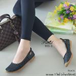 รองเท้าคัชชูส้นเตี้ยใส่สบาย วัสดุหนังสังเคราะห์ฉลุลายดอกไม้ พื้นซิลิโคนแบบ Slip on น้ำหนักเบา ใส่กระชับ สวมสบาย แมทง่าย ใส่ได้ทุกโอกาส สูง 2 เซน