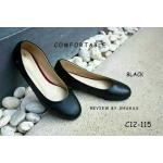 """รองเท้าคัทชู ส้นแบน Ballerinas ทรงสวย สวมใส่สบายดีไซน์ปักษ์ """"S"""" เก๋ๆ สลับสีตัดกับตัวรองเท้าน่ารักมากๆ แมทได้ทุกชุด สีดำ ครีม ชมพู เขียว เงิน"""