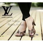 รองเท้าแฟชั่น ส้นสูง Style Brand LV หนังนิ่มลายโมโนแกรมแต่งอะไหล่เพชร โลโก้ LV แบบสวมใส่ง่าย สูง 3 นิ้ว พื้นตี LV งานขายดีตลอดกาล