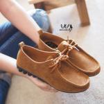 รองเท้าคัชชู สไตล์ loafer สุดเท่ห์ แบบผูกเชือก ดีไซน์เรียบเก๋ดูดี ใส่สบายมาก ไม่บีบเท้า แมทเท่ห์ ๆ ได้ทุกชุด