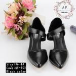 รองเท้าส้นสูง สวยหรู หนังพียูเนื้อดี ทรงหัวแหลมใส่สวย ใส่ง่าย ปรับระดับรัด ข้อเท้าด้วยเมจิกเทป กระชับเท้า ส้นสูง 3 นิ้ว แมชเก๋ได้ทุกชุด
