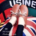 รองเท้าผ้าใบสวยเก๋ หนังพียู แบบผูกเชือก รองพื้นถอดได้ ส้นยางกันลื่นน้ำหนัก เบามีความยืดหยุ่น นิ่มใส่สบายเท้า หนา 1 ซม. ทรงสวยใส่สวยมีสไตล์ สีขาว น้ำตาล (0871)