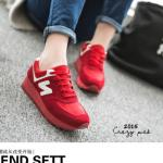 รองเท้าผ้าใบ nb เวอร์ชั่นใหม่ สินค้านำเข้า100% วัสดุทำจากสักหลาดผสมหนัง พื้นยางเสริมส้น 1 นิ้ว งานดี เกรด A แมตเสื้อผ้าได้เยอะ สีดำ แดง