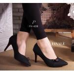รองเท้าคัทชู ส้นสูง ZARA style ทรงสวมหัวแหลม เล่นดีเทลอะไหล่ดำเงินเก๋ๆ หนังอย่างดี สวย Classic ใส่ดูเท้าเรียวเล็ก ทรงใส่สบาย ไม่บีบเท้า ส้นสูงกำลังดี พื้นนิ่ม สวยคุ้มเกินราคา สีดำ เงิน ครีม สูง 3 นิ้ว