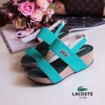 รองเท้าแฟชั่น สไตล์ Lacoste แบบสวมรัดส้น สวยเท่ห์ ใส่ง่าย ส้นตึกเสริมหน้า พื้นบุนุ่ม ใส่สบาย