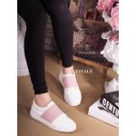 รองเท้าผ้าใบ Korea Sneaker สุดน่ารัก ทรงClassic แบบไม่ผูกเชือก วัสดุ หนังอย่างดี นิ่มเท้าสุดๆ เล่นดีเทลแต่งยางยืดสีสันน่ารักสดใส ด้านหน้า ใส่นิ่ม สบายเท้า คล่องตัว