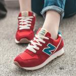 รองเท้าผ้าใบแฟชั่น N เย็บแต่งโลโก้ด้านข้าง สีสวยสดใส เหมาะกับทุกชุดทุกสไตล์ ใส่ออกกำลังกายหรือใส่เที่ยว สูงหน้า 1 ซม. , ส้นสูง 2 ซม.