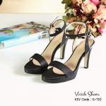 รองเท้าแฟชั่น ส้นสูง สวยเรียบหรู วัสดุหนัง Saffiano สีด้าน ทรงสวยรัดส้น สูง 4 นิ้ว หน้าเสริม 0.5 นิ้ว ใส่ง่าย ตกแต่งเน้นโทนสีเรียบเก๋ จับแมทส์ชุดใส่ ได้หลายโอกาส สีดำ เทา