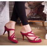 """รองเท้าส้นสูง ทรงสวม Collection ใหม่ สุดฮิต วัสดุหนังอย่างดี ดีไซน์ S Shape ด้านหน้า ดูเก๋ มีสไตล์ แต่งดีเทลเสริมหน้าสูง เพื่อเพิ่มความใส่สบายเท้า ใส่สวยดูดี ดูเท้าเรียว สูง 3"""" เสริมหน้า 0.6"""""""