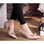 รองเท้าคัทชู ส้นเตี้ย ZARA style ทรงหัวแหลม หนังอย่างดี ทรงสวย Classic แอบเก๋ด้านหน้าแต่งอะไหล่โบว์ ส้นทองสูงไม่มาก พื้นนิ่มอย่าง ดี สวยดูดีมีสไตล์ให้คุณแมทชุดได้ทุกชุด สีดำ ครีม (FH -278)