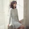 [พรีออเดอร์] ชุดเดรสผู้หญิงแฟชั่นเกาหลีใหม่ แขนยาว คอกลม แบบหวานเก๋ - [Preorder] New Korean Fashion Slim Round Neck Long-sleeved Dress