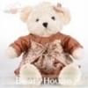 ตุ๊กตาหมีลอรัลตัวขาวครีม-เสื้อน้ำตาล ขนาด 0.7 เมตร
