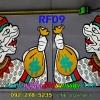 สติ๊กเกอร์สะท้อนแสง ติดกระจกประตู ซ้าย-ขวา RF09 หนุมานถือถุงเงิน