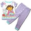 ชุดนอน สีขาว-ม่วง ลาย Dora กับลิง 12M