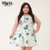 พรีออเดอร์ เสื้อเดรสแฟชั่นเกาหลี คอกลม ไซส์ใหญ่ สำหรับสาวอ้วนวัยทีน สุดชีค - Preorder Women Korean Hitz New Large Size Dress