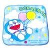 ผ้าเช็ดหน้า สีฟ้า ลาย Doraemon กับลูกโป่ง