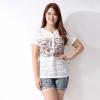 [พร้อมส่ง] เสื้้อแฟชั่นลูกไม้แบบเกาหลีใหม่ไซส์ 5XL แขนสั้น สำหรับผู้หญิงไซส์ใหญ่ - [In Stock] New Korean Fashion Lace Shirt Short-Sleeved for Large Size Woman