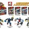 เลโก้จีน JX60002 A-D ชุด หุ่นยนต์ Super Heroes