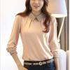 [พรีออเดอร์] เสื้อเชิ้ตทำงานแฟชั่นเกาหลี แขนยาว - [Preorder] Women Korean Hitz Slim Long-sleeved Female Shirt