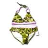 ชุดว่ายน้ำ สีชมพู-เขียว ลายพรางทหาร 16T