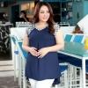 พรีออเดอร์ เสื้้อชีฟองแฟชั่นเกาหลีใหม่ แขนสั้น สำหรับผู้หญิงไซส์ใหญ่ - Preorder New Korean Fashion Shirt Short-Sleeved for Large Size Woman