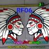 สติ๊กเกอร์สะท้อนแสง ติดกระจกประตู ซ้าย-ขวา RF06 อินเดียแดง