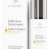 S MONE' Delicious Sunscreen Extra UV Shield SPF50 PA+++ ครีมกันแดดเนื้อบางเบา ไม่มัน ไม่วอก ไม่คราบ ป้องกันแสงแดดได้นานตลอดวัน อย่างเต็มประสิทธิภาพ สินค้าดีมากแนะนำค่ะ
