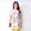 [พร้อมส่ง] เสื้้อแฟชั่นแบบเกาหลีใหม่ แขนสั้น สำหรับผู้หญิงไซส์ใหญ่ - [In Stock] New Korean Fashion Shirt Short-Sleeved for Large Size Woman