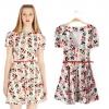 [พรีออเดอร์] ชุดเดรสผู้หญิงแฟชั่นยุโรปใหม่ แขนสั้น พิมพ์ลายสตรอเบอรรี่ แบบเก๋ เท่ห์ - [Preorder] New European Fashion Slim Short-Sleeved Dress