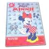สมุดวาดเขียนสันห่วงใหญ่ สีเทา-แดง ลาย Minnie Mouse