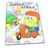 สมุดวาดเขียนสันห่วงใหญ่ สีเหลือง ลาย Spongebob Sweet Rider