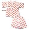 ชุดจิมเบอิ สีขาว-แดง ลายสี่เหลี่ยม S100