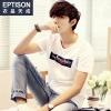 พรีออเดอร์ เสื้อยืดแฟชั่นเกาหลีสไตล์ สำหรับผู้ชายไซต์ปกติ และไซต์ใหญ่ แขนสั้น เก๋ เท่ห์ - Preorder Regular Size and Plus Size for Men Korean Hitz Style Slim Short-sleeved T-Shirt