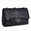 (หมดคะ) กระเป๋าแฟชั่นนำเข้า ทรงสวยยอดนิยม ผลิตจากหนัง pu บุนวมนิ่มนูน สายสะพายโซ่ทังสเตน ขนาดกว้าง 28.5 cm สีดำคะ