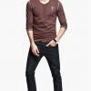 พรีออเดอร์ เสื้อยืดแฟชั่นอเมริกา และยุโรปสไตล์ สำหรับผู้ชาย แขนยาว เก๋ เท่ห์ - Preorder Men American and European Hitz Style Slim Long-sleeved T-Shirt