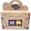 sati สีทาเล็บปลอดสารพิษสำหรับเด็กสูตรน้ำ สีม่วง-เหลือง (Lavender & Yellow)